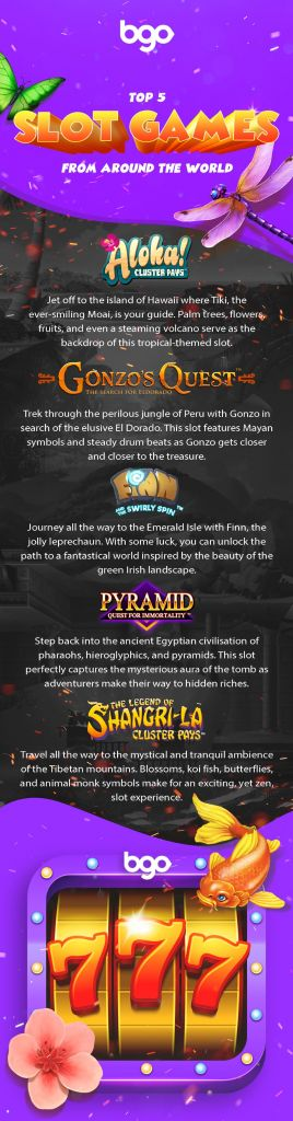 Top 5 Slots from Around the World infographic 2