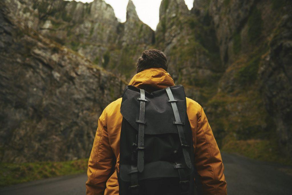man, adventure, backpack